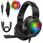 3.5mm Gaming Headset Mic LED Stereo Surround for PC PS4 Xbox ONE Nintendo Switch