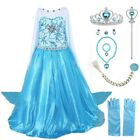 2018 Elsa Costume Princess Party Girls Costume Dress with Accessories Set 2-10Y