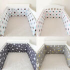 "78"" x 12"" Baby Crib Bumper Pad Breathable Comfy Toddler Bed Cot Protector Cotton"