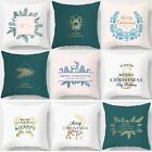 Christmas White Throw Pillow Covers, Textured Farmhouse Patterned Cushion cover