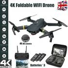 Foldable Drone 4K HD X Pro WIFI FPV Camera 3 Batteries 3D Selfie Quadcopter UK❥
