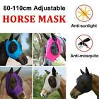 Horse Fly Mask W/ Ears Hood Full Face Mesh Protection Anti Mosquito Uv J3m5