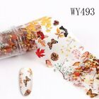 1 Box Fall Leaves Nail Art Water Decals Autumn Maple Leaf Transfer Stickers US
