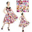 LUNA MOTH SWING DRESS by HEARTS & ROSES ALTERNATIVE RETRO 50's VINTAGE SIZE 8 10