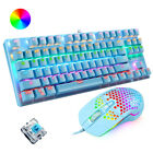 Wired RGB Mechanical Gaming Keyboard Blue Switch and Mouse Set for PC PS4 Laptop