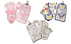 AW20 Baby Girls Boys Layette Gift Set 5 Piece 100% Cotton Outfit 3 Cute Designs