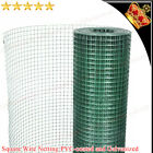 NEW Square Wire Netting Wire Fence Galvanized Steel PVC-coated Green Multi Sizes