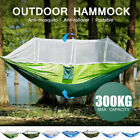 Double Person Camping Hanging Hammock Bed w/ Mosquito Net Summer Hiking Travel