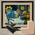 "38Wx32H"": STILL LIFE TEAPOT FRUIT by PAUL GAUGUIN - DOUBLE MATTE GLASS and FRAME"