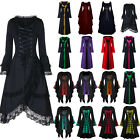 Halloween Womens Renaissance Medieval Gothic Witch Costume Fancy Dress Dresses