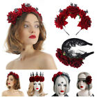 Hair Accessories Hair Wreath Red Rose Crown Halloween Headbands Wedding Garland
