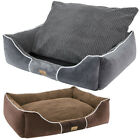 Washable Plush Dog Bed Soft Comfy Cat Pet Basket Non-slip with Removable Cushion