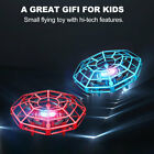 2Piece Mini Drone UFO Suspension Flying Toy Hand Operated 360 Rotating