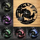 Animal Wolf LED Vinyl Record Wall Clock Gifts Wall Watch Home Decor 12'' Clock