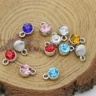 30Ps Silver Plated Crystal Charm Pendant Jewelry Making Necklace DIY Accessories