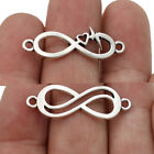 30PCS Silver Infinity Charm Connector for Jewelry Making Bracelet Accessories
