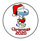 30 Snoopy Christmas Mask 2020 Envelope Seals Labels Stickers Party 1.5