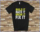 BUILD IT RACE IT TSHIRT FOR DRAG RACING MOTOCROSS STOCK CAR RACING DIRT TRACK RA