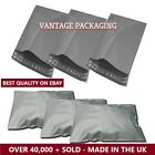 GREY MAILING BAGS POLY BAGS POSTAL PLASTIC MAIL MAILERS ENVELOPES STRONG CHEAP