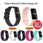 For Fitbit Charge 3/4 Band Classic Colored Buckle Replacement  Watch Wristband