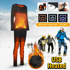 Electric Heated Pants Warm Men Wome Clothes Trousers M-6XL USB Heating Winter