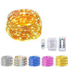 USB/battery 13KEY Remote LED String Lights Copper Wire Holiday Party Decor 5-20m
