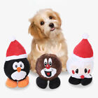 CC_ Pet Dog Puppy Plush Chew Bite Resistant Toy Teeth Grinding Built-in TPR Ball