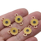 10Pc Enamel Flower Charm Connector for Jewelry Making Bracelet Accessories Craft