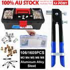 106/1606x Threaded Nut Rivet Tool Riveter Rivnut Nutsert Gun Riveting Kit M3-m8