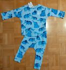 BNWT Baby Boys Blue Elephant T-Shirt Top Legging Outfit/Set 6-9-12-18 NEXT