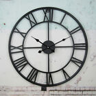 Large Wall Clock Antique Roman Numeral Round Open Face Outdoor Garden Waterproof