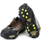 Ice Snow Grip 10 Spikes Cleats Crampon AntiSlip Traction Walk Climbing Shoes New