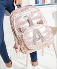 Justice Initial Rose Gold Quilted Unicorn Backpack