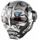 DOT Approved Blue Eye Android Motorcycle Helmet