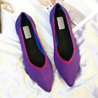 Women Ladies Pointed Toe Casual Ballet Shoes Slip-on Flats Dress Wedding Party