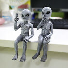 Outer Space Alien Dude And Babe Shelf Sitters Statue Figurine Home Garden Decor