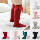 Toddler Kid Baby Girl Knee High Long Socks Bow Cotton Casual Stockings 0-4Years
