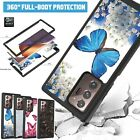 For Samsung S21 Ultra S20 FE 2 IN 1 Shockproof Patterned TPU+PC Back Case Cover