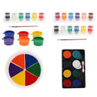 6 Colors Rainbow Washable Large Ink Pads Kids Graffiti Toys - Palm Print Ink Pad