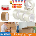 48mm x 66M LONG LENGTH PACKING TAPE STRONG PACKING PARCEL TAPE CLEAR / FRAGILE