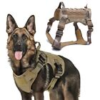 Dog Vest Tactical Harness Military K9 Training Working Handle Large Leash US New
