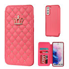 For Samsung S21 Ultra Note 20 S20 FE S10 S9 Wallet Leather Flip Phone Case Cover