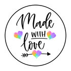 Made with love Sticker Round Envelope Sealers 1.50 inch ST438