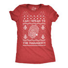 Womens Ugly Karen Sweater Tshirt Funny Can I Speak To The Manager Christmas
