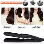 Professional Salon Steam Hair Straightener Ceramic Tourmaline Ionic Flat Iron