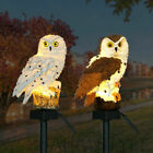 Waterproof Led Owl Solar Powered Garden Light Outdoor Ornament Lawn Statue Lamp