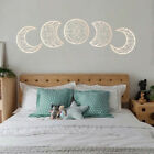 5PCS Wooden Moon Phase Wall Hanging Bedroom Home Decoration Ornaments Gift UK