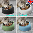 200/400ml Pet Cat Bowl Stainless Steel Raised Stand No Slip Tilted Feeder Bowls