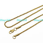 """Genuine 18k Gold Filled Classic 1.7mm Thin 16"""" - 32"""" Italian Rope Chain Necklace"""