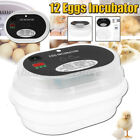 JANOEL 12 Eggs Incubator Fully Automatic Chicken Poultry Duck Quail pp